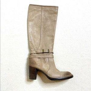 Alberto Fermani Knee High Leather Moto Boots 8